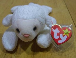 "TY Beanie Baby FLEECE LAMB 7"" Plush Stuffed Animal NEW - $15.35"