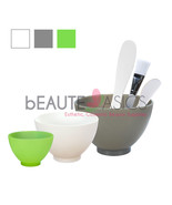 Flexible Silicone Facial Mask Mixing Bowl Combo Set - Bowls & Plastic Sp... - $16.99+