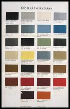 1975 Buick Color Selection Paint Chip Brochure, Riviera - $7.31