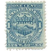 William Roeber Match U.S. Internal Revenue 1c RO161b Private Die, Propri... - $6.99