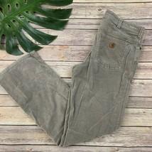 Carhartt Womens Original Fit Corduroy Pants Size 6 Tan Straight Leg Cott... - $33.65