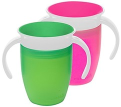 Munchkin Miracle 360 Trainer Cup, Pink/Green, 7 Ounce, 2 Count - $15.28