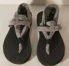 Skechers size 6 Memory Foam Meditation Flip Flops Yoga Foam sandals-Gray... - $16.82