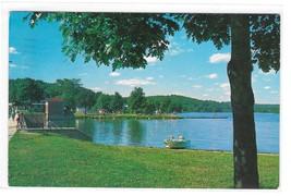 NJ Lake Musconetcong State Park Beach Morris County Vintage Postcard - $5.99