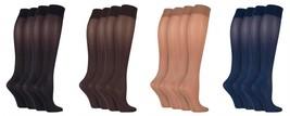 IOMI - 2 paires femme mi mollet anti fatigue chaussettes compression graduée - $12.30