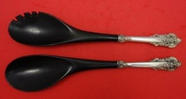 """Grande Baroque by Wallace Sterling Silver Salad Serving Set w/ Ebony 2-pc HH 11"""" - $129.00"""