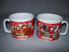 Soup Cups Mugs 2 Sided Kids Delivering Presents/Kids Raking Leaves Camp... - $9.95