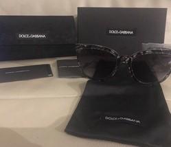 NIB Dolce & Gabanna Women's Lace Retro Acetate Frame Sunglasses Black An... - $107.53