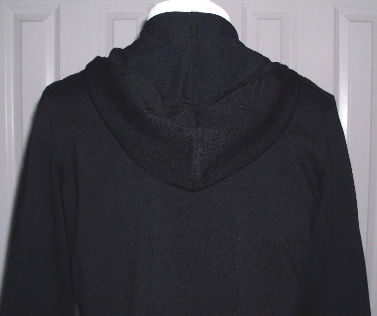 RALPH LAUREN BLACK LABEL WOMEN'S BIG PONY HOODIE JACKET MERINO BLEND SIZE LARGE