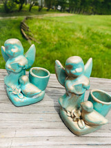 Angel Candlestick Holders - Dove - Set of 2 - Centerpiece - Mantle Decor... - $12.00
