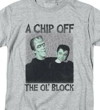 The Munsters t-shirt Herman & Eddie Chip Off the Ol' Block graphic tee NBC908 image 3