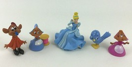 Disney Princess 5pc Lot Cinderella Mini Figures PVC with Mice and Bird A... - $29.65