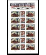 USPS 150th Anniversary Transcontinental Railroad Sheet of 18 Stamps. - $17.99