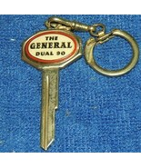 Original vintage The General Dual 90 automobile key ring fob auto promo ... - $26.99