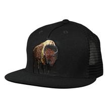 Brown Buffalo Trucker Hat by LET'S BE IRIE - Black Snapback - £15.43 GBP