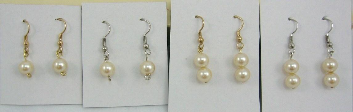 HANDCRAFT Gems Malachite beads GP. wire dangle earring