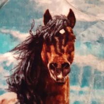 Western Theme Fleece Throw Blanket Wild Horses Freedom Northwest Co 60x4... - $21.77