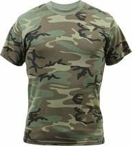 Woodland Camouflage Military Vintage Super Soft T-Shirt - $12.99+