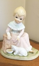 Lefton Christopher Friends Collection Giving is Loving Girl with Kitten ... - $8.90