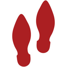 LiteMark Red Removable Elf Footprint Decal Stickers - Pack of 12 - $19.95
