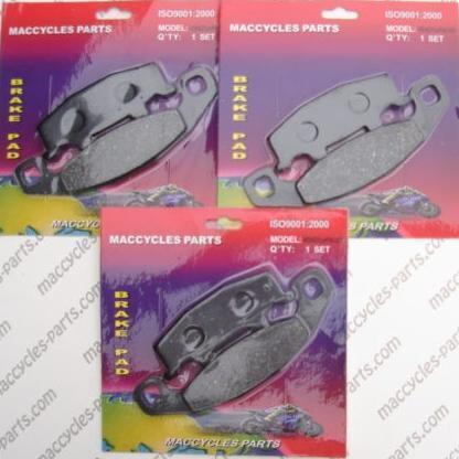 Kawasaki Disc Brake Pads ZR750 Zephyr 1991-2006 Front & Rear (3 sets)