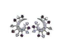 excellent Multi CZ 925 Sterling Silver Multi genuine gemstones CA gift - $13.27