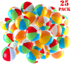 Inflatable Beach Balls 5 Inch For The Pool, Beach, Summer Parties, Gifts... - $18.80
