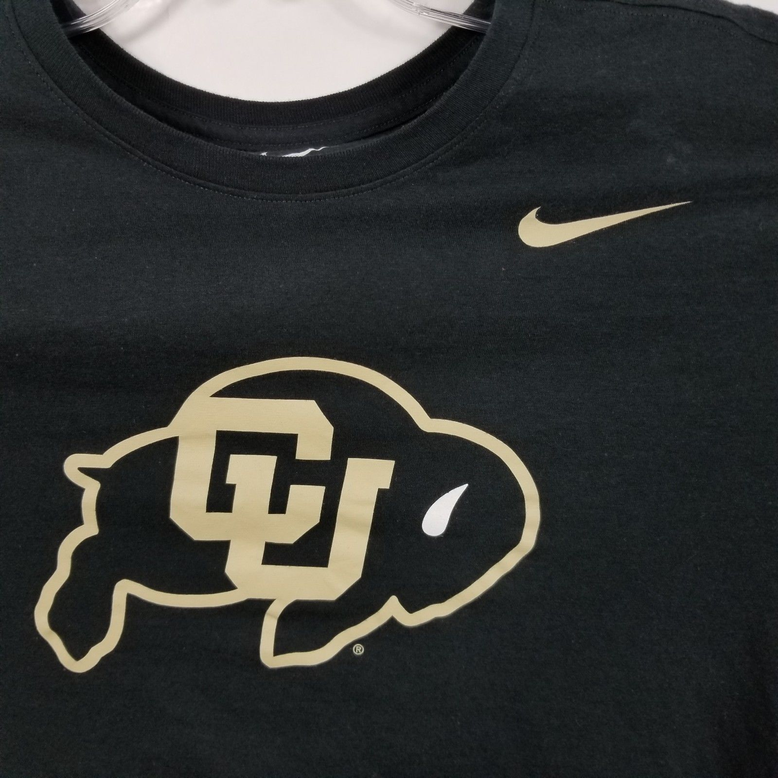 Nike Mens Colorado Buffaloes T Shirt Sz L Large Black Gold Solid Short  Sleeve 5127cc20c
