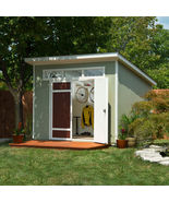 Aston 10' x 7.5' Wood Shed,Outdoor Shed, Self Storage, Storage Sheds, New - $1,689.99