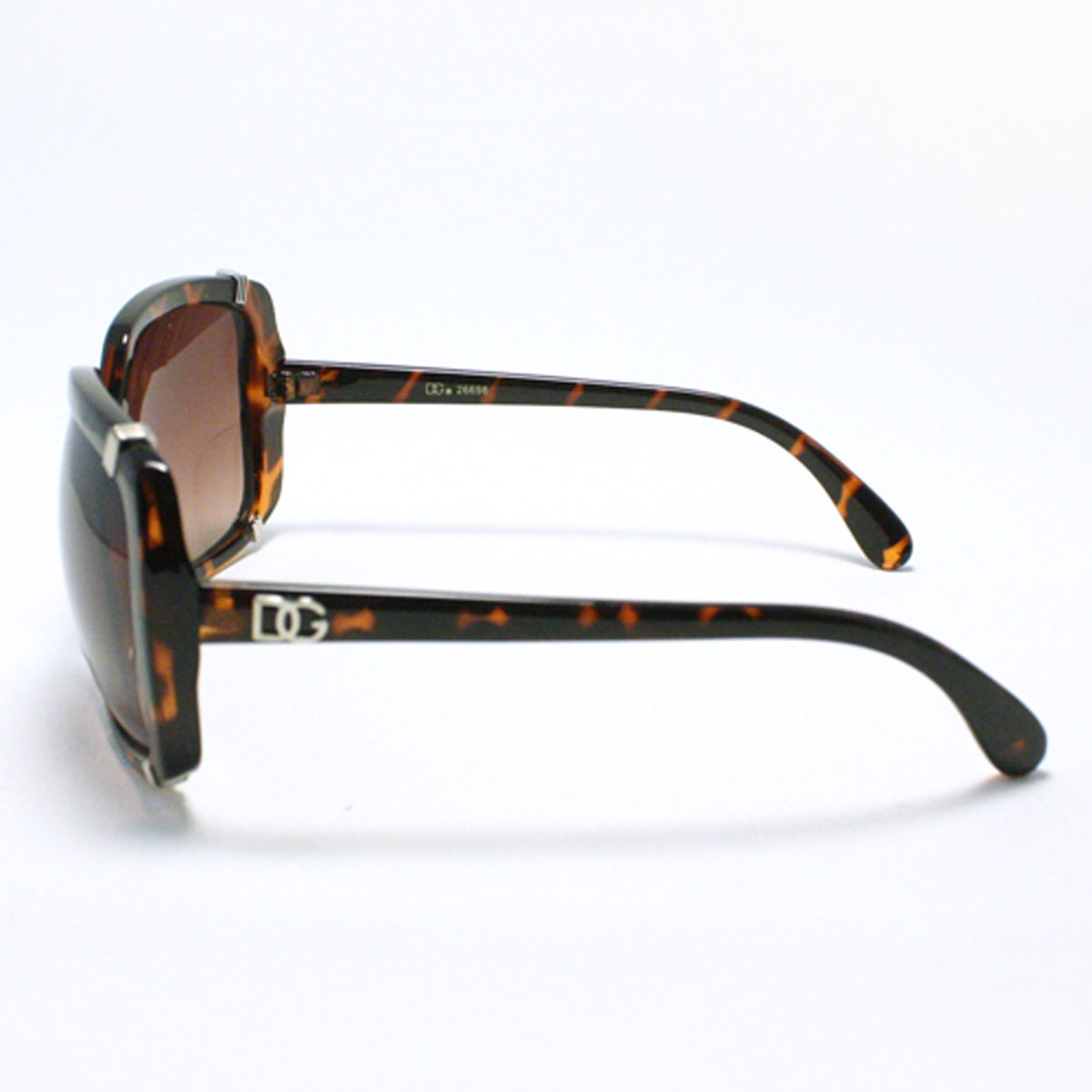 Womens Square Sunglasses Oversize Vintage Fashion Frame TORTOISE