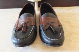 Cole Haan Mens Black & Brown Leather Tassel Loafer Shoes Size 11 1/2 D - $49.99
