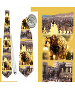 Necktie tie troy greek achilles schield sparta the iliad hector  trojan ... - $22.00
