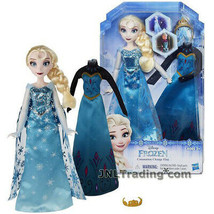 "NEW Disney 2015 FROZEN 11"" Doll ELSA Sparkly Snow Queen Gown + Coronatio... - $32.99"