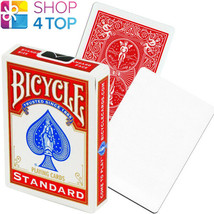 BICYCLE RIDER BACK NO FACE BLANK WHITE MAGIC TRICKS CARDS DECK USPCC RED... - $6.85