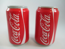 Coca-Cola Red Coke Can Salt and Pepper Set Ceramic - $7.92