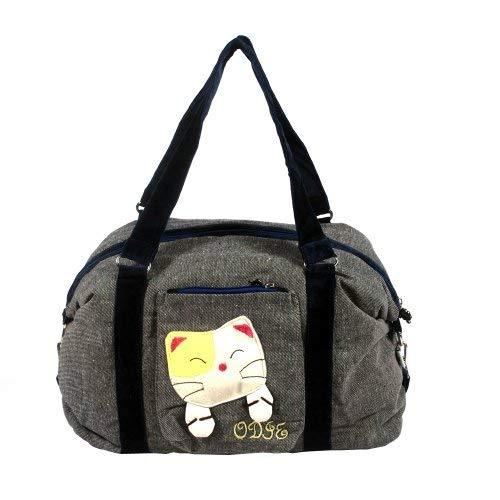 [Sweet Mio Mio] 100% Cotton Canvas Shoulder Bag / Swingpack / Travel Bag