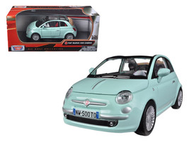 Fiat 500 Nuova Cabrio Green 1/24 Diecast Car Model by Motormax - $30.46