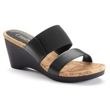 CHAPS RALPH SIZES NEW SLIP BLACK RHODA DRESS SANDALS VARIETY ON LAUREN WEDGE by dqwwOE