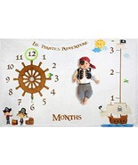 Extra Thick Fleece Lil Pirate Adventure Baby Monthly Milestone Blanket L... - $20.99
