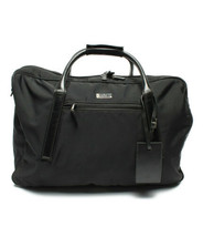 Auth GUCCI Boston Bag Black OLD Gucci Vintage GG Outer Pockets Name Tag ... - $550.44