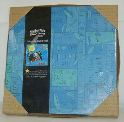 DEMDACO 17408 Embellish Your Story Blue Collage Magnetic Memo Board 16 Inches