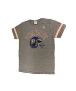 NFL Junk Food Men's Heather Gray Retro Denver Broncos T-Shirt, Size S NWOT - $9.89