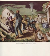John Steuart Curry. Tornado over Kansas. Vintage American Artists 1940 p... - $25.74