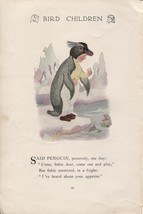 Elizabeth Gordon's Bird Children: Penguin. M.T.Ross 1912 lithograph print - $13.81