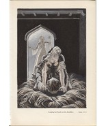"Rockwell Kent ""...her hands on his shoulders"", The Decameron. Vintage 19... - $11.83"