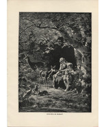 Genevieve de Brabant. Ernst Bosch. Antique 1892 wood engraving print. - $14.70