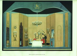 Erte, The Inn, Der Rosenkavalier set design. Vintage 1980 Art Deco print - $17.64