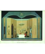 Erte, The Inn, Der Rosenkavalier set design. Vintage 1980 Art Deco print - $17.64