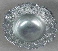 Silver Bowl Floral Repousse' Rare Vintage Art Deco Ofer - $124.99