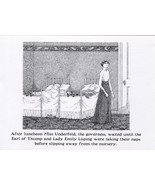 "Edward Gorey. ""Miss Underfold"" from ""The Other Statue"". postcard print - $6.44"